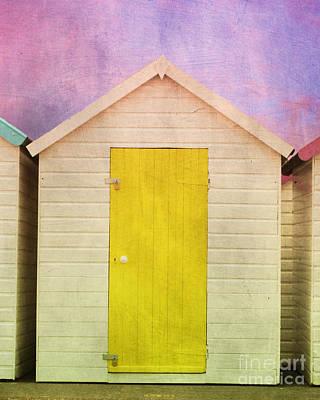 Photograph - Yellow Beach Hut by Terri Waters