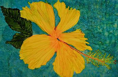 Ink Painting - Yellow Beauty by Linda Brown