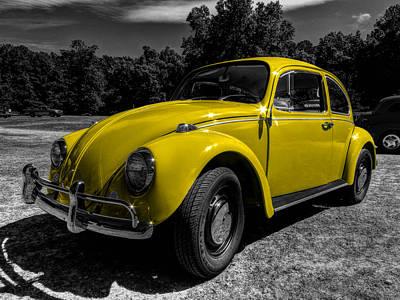Volkswagen Beetle Photograph - Yellow Beetle 001 by Lance Vaughn