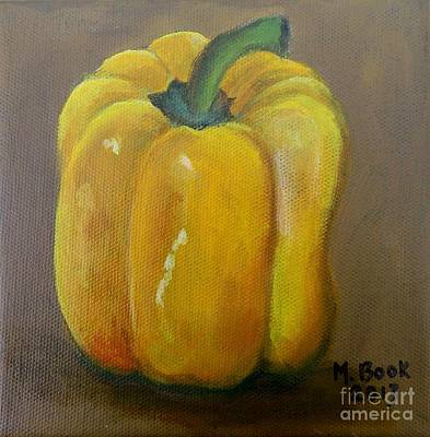 Painting - Yellow Bell Pepper by Marlene Book