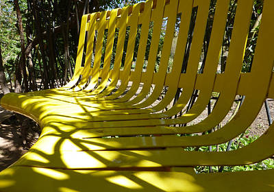 Photograph - Yellow Bench by Claudia Goodell