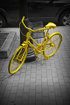 Photograph - Yellow Bicycle by Randall Nyhof