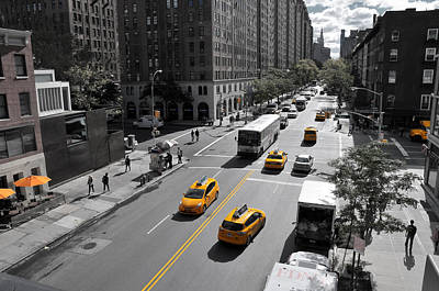 Photograph - Yellow Big Apple Crossing by Paul Van Baardwijk