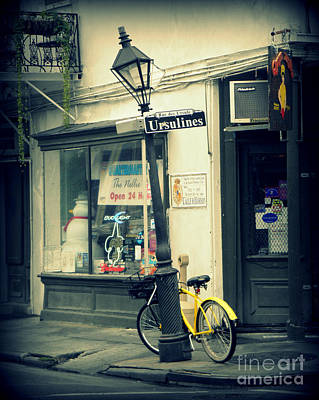 Photograph - Yellow Bike Nola by Valerie Reeves