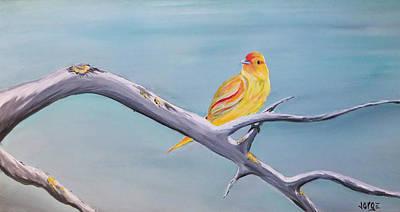 Painting - Pajarito Amarillo by Jorge Carrillo