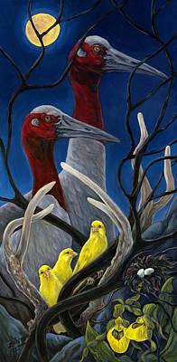 Yellow Bird Original by Leslie Lyne Zantow