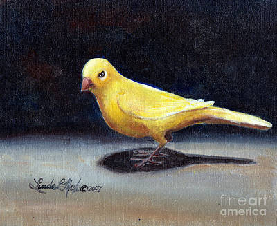 Painting - Yellow Bird by Linda L Martin