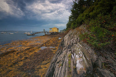 Photograph - Yellow Boat House by Darylann Leonard Photography