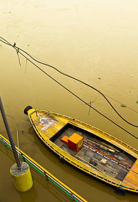 Gangi Photograph - Yellow Boat by Kabir Ghafari