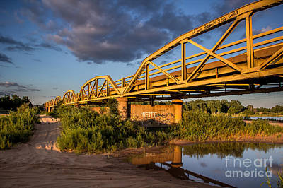 Photograph - Yellow Bridge 1 by Jim McCain