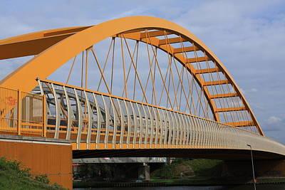 Rivets Photograph - Yellow Bridge by Aidan Moran