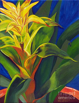 Painting - Yellow Bromeliad by Annette M Stevenson
