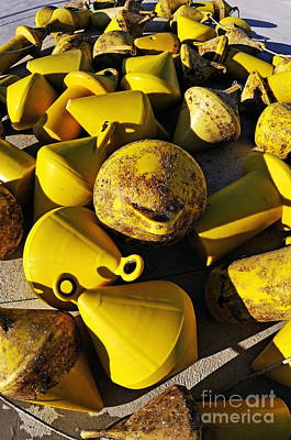 Photograph - Yellow Buoy At Quay by Sami Sarkis