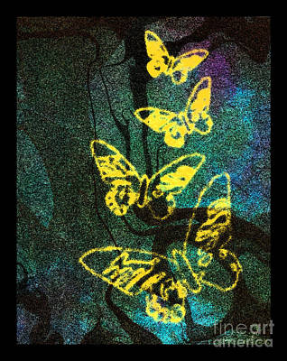 Digital Art - Yellow Butterflies by Christine Perry