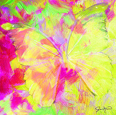 Mellow Yellow - Yellow Butterfly by Jan Marvin