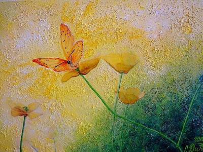 Yellow Butterfly Art Print by Svetla Dimitrova