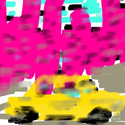 Yellow Cab Big City Art Print by James Eye