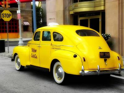 Yellow Cab Art Print by Jewels Blake Hamrick