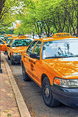 Photograph - Yellow Cab by Sennie Pierson