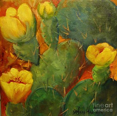 Yellow Cacti Art Print