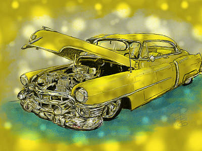 Yellow Cad Art Print