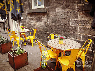 Photograph - Yellow Cafe by Valerie Reeves