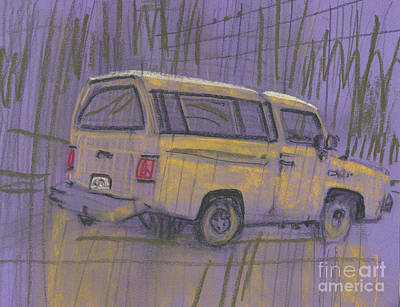Painting - Yellow Camper by Donald Maier