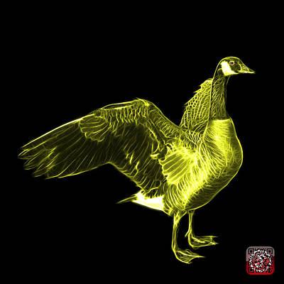 Mixed Media - Yellow Canada Goose Pop Art - 7585 - Bb  by James Ahn