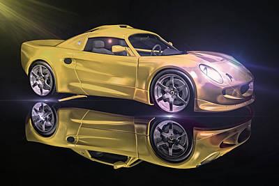 Photograph - Yellow Canary Car by Carlos Diaz