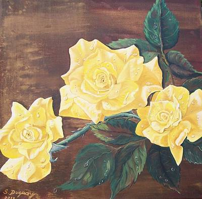 Painting - Yellow Carpet Rose by Sharon Duguay