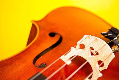 Cello Photograph - Yellow Cello Heart by Mela