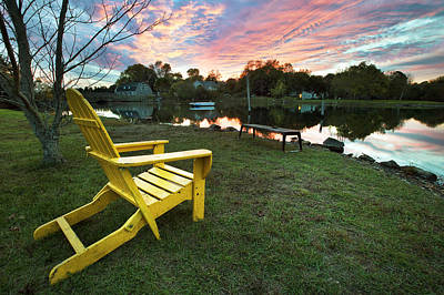 Yellow Chair Art Print by Eric Gendron