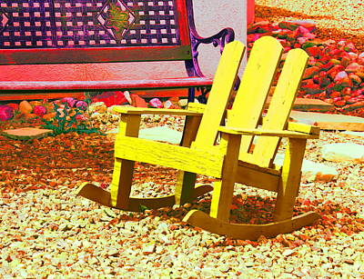 Photograph - Yellow Chair by Kume Bryant
