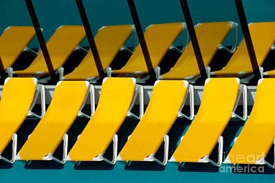 Yellow Chairs Reflected Art Print