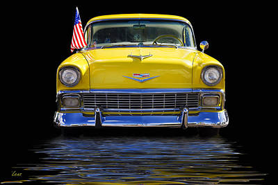 Lenz Wall Art - Photograph - Yellow Chevy by George Lenz