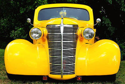Photograph - Yellow Chevy by John Kiss