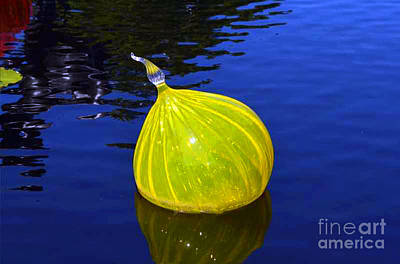 Photograph - Yellow Chihuly Blown Glass by Luther Fine Art