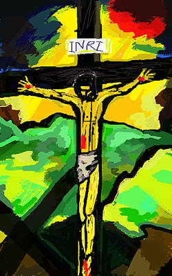 Yellow Christ  After Gauguin Original by Paul Sutcliffe