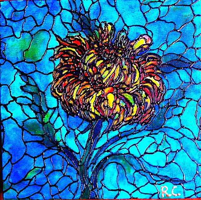Painting - Yellow Chrysanthemum by Rae Chichilnitsky