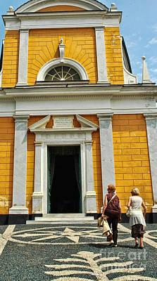 Photograph - Yellow Church by Allen Beatty