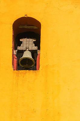 Old Christ Church Photograph - Yellow Church Bell Tower by Jess Kraft