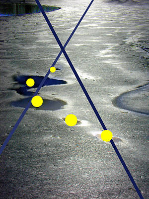 Photograph - Yellow Circles In Frozen Landsacpe by Steve Karol