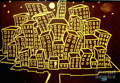 Yellow City Or City Of Gold Art Print