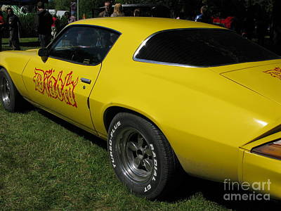 Photograph - Yellow Classic Car Diablo At The Show by Ausra Huntington nee Paulauskaite
