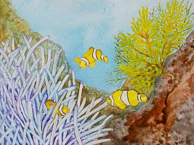 Painting - Yellow Clownfish by Patricia Beebe