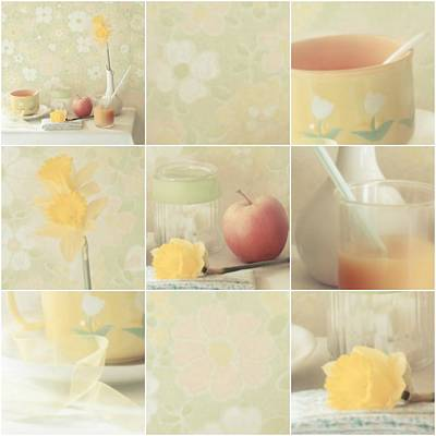 Daffodils Photograph - Yellow Collection by Delphine Devos