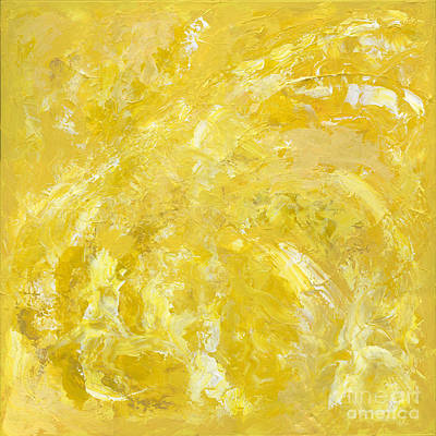 Painting - Yellow Color Of Energy by Ania Milo