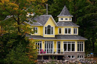 Muskoka Photograph - Yellow Cottage by Les Palenik