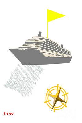 Yellow Cruise Art Print