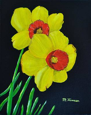Painting - Yellow Daffodils by Melvin Turner